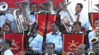 Indian Army Symphonic Band performs at India Gate