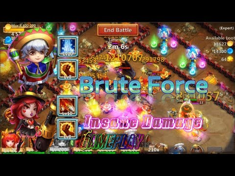 Brute Force  Heartbreaker & Nick Insane Damage! Castle Clash