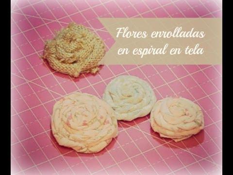 Tutorial flores enrolladas en espiral de tela youtube - Telas shabby chic ...