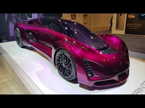 Les plus belles voitures et motos du CES 2017