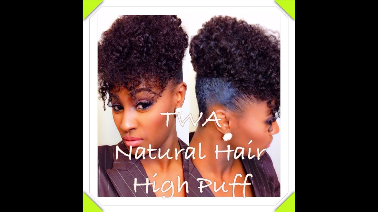 highly requested: twa natural hair high puff | shlinda1 - youtube