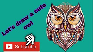 OWL DRAWING | HOW TO DRAW SOME KIND OF BIRD | របៀបគូររូប