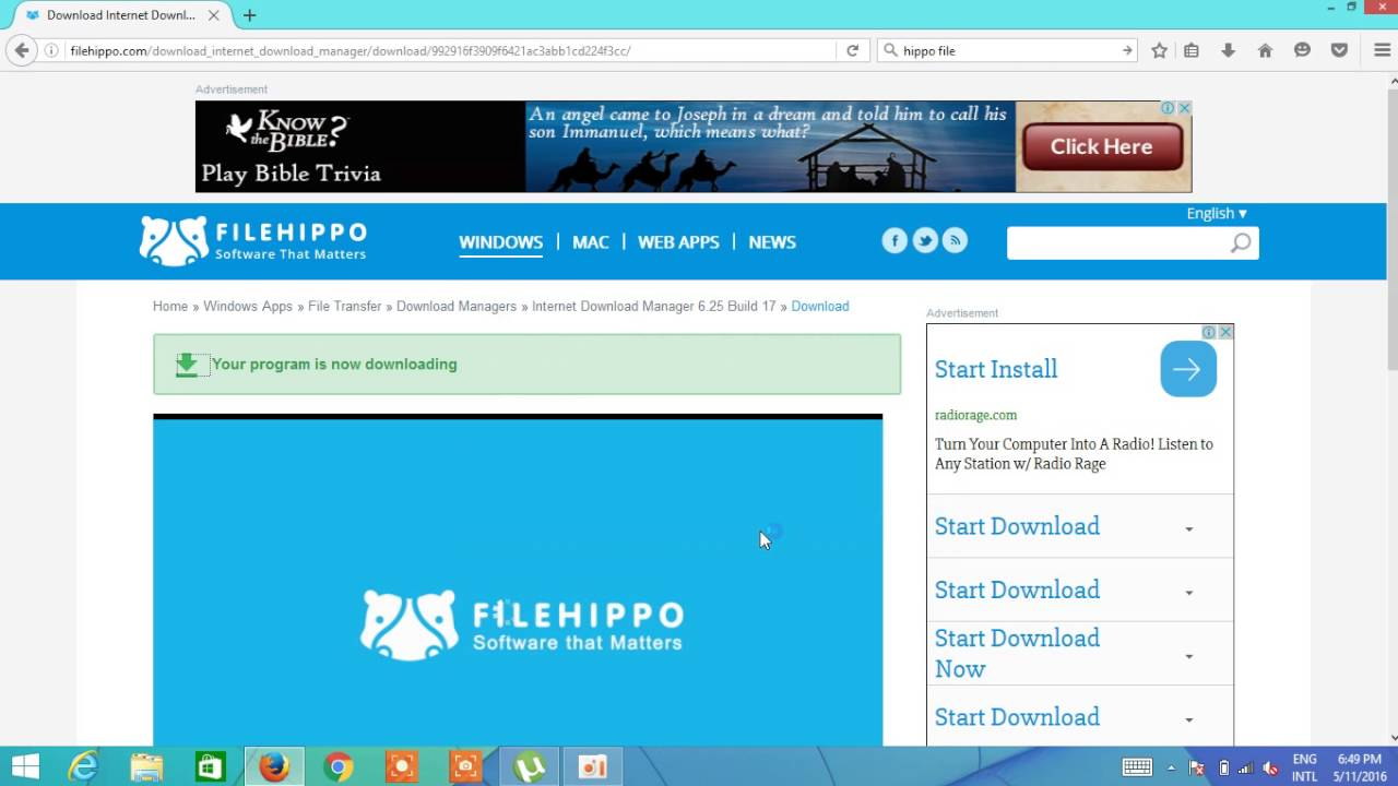 internet download manager free download for windows 10 filehippo