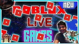 RIGHT KNOW ROBLOX LIVE STREAM - BIG ROBUX GIVEAWAY -JOIN THE GAMES WE PLAY NO CLICK BATE ! #!! #209