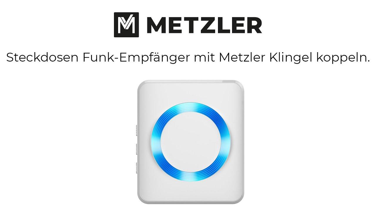 Funk Türglocke Klingel Türklingel Steckdose 28 Melodien mit Empfänger
