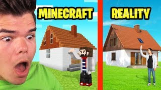 Reacting To MINECRAFT vs. REAL LIFE!