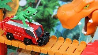 공룡메카드 티라노 티톤 공룡자동차 장난감 캡처카 알키온 트리케라 공룡알 변신놀이 Dinosaur Mecard Tyrannosaurus Toy Cars