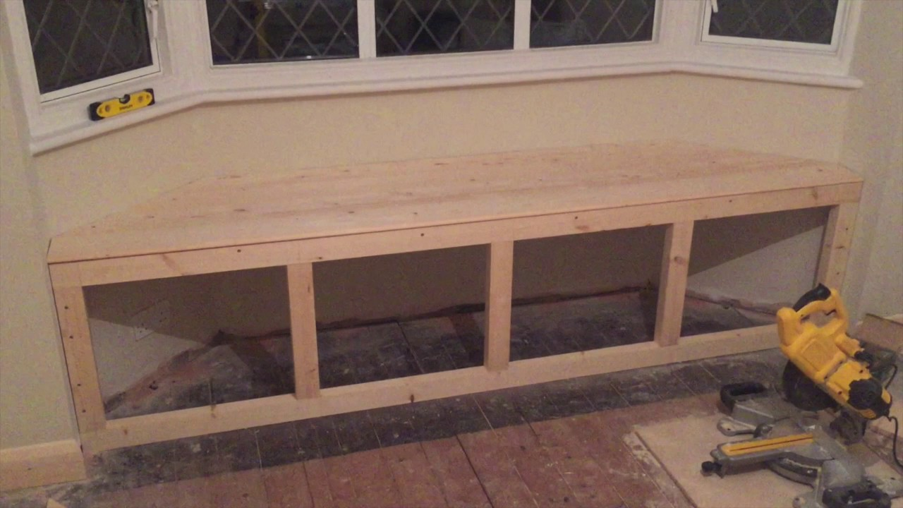 home made bay window seat youtube. Black Bedroom Furniture Sets. Home Design Ideas