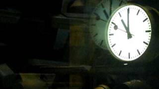 Swiss Railway Clock by Hans Hilfiker