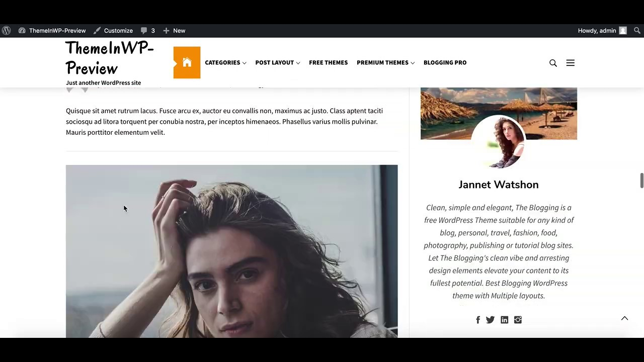 The Blogging WordPress Theme Activation and Demo Import ...