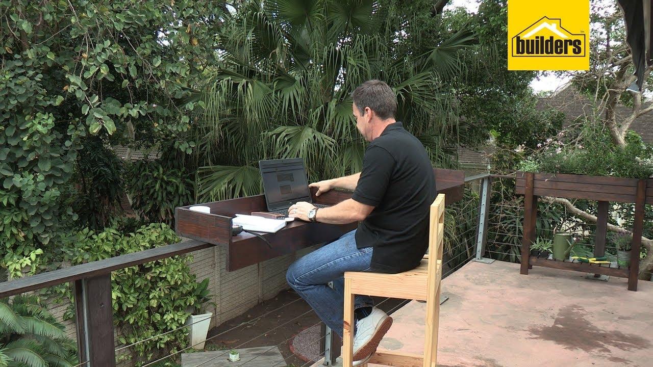 How To Make A Balcony Railing Bar Table Youtube