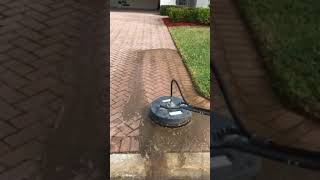 Proper way to clean mildew off of paver bricks