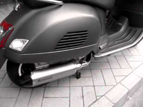 akrapovic vespa gts250 300 by tpmotorcycle thailand youtube. Black Bedroom Furniture Sets. Home Design Ideas