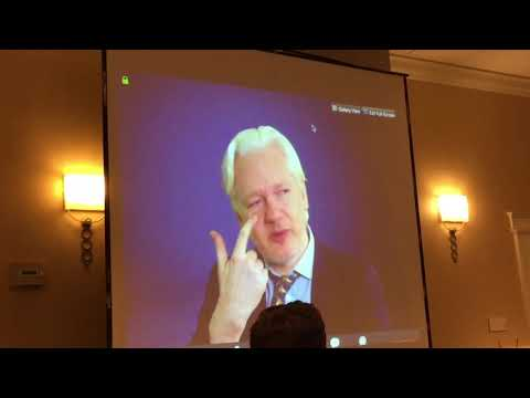 Julian Assange speaking at Peace & Prosperity 2017 Conference
