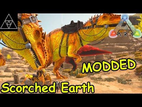 Modded ARK: Scorched Earth #045 ► Matrix Cores! ACA Grappling Hook! Alpha Mantis & Giga!
