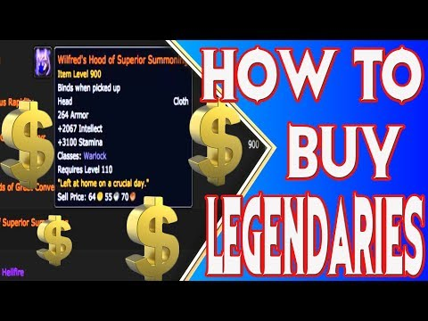 World of Warcraft 7.3.5 how to buy legendaries