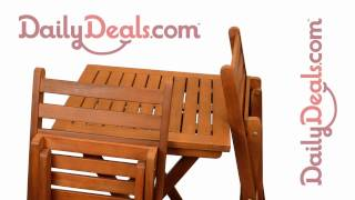 Make Direct Wood Bistro Patio Set