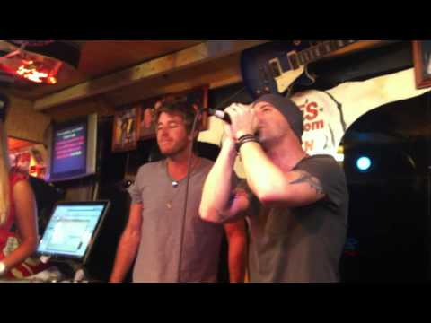 Chris Daughtry singing Karaoke at Lonnie's Western Room Nashville