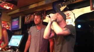 Chris Daughtry singing Karaoke at Lonnie's Western Room Nashville