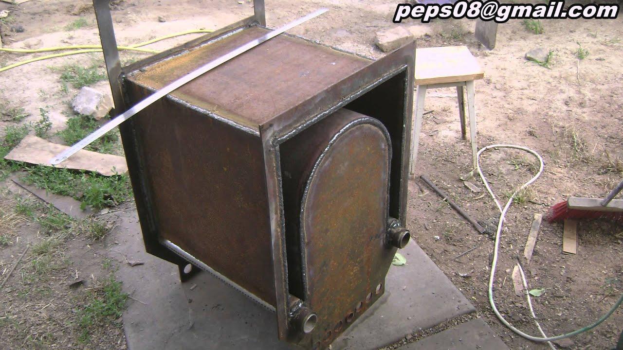 , homemade wood boiler - YouTube