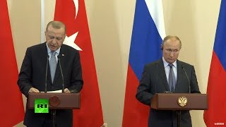 Putin And Erdogan Hold Joint Press Conference In Sochi