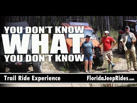 You Don't Know What You Don't Know Trail Experience  Citrus WMA