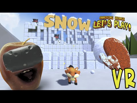 Midget Apple Plays - Snow Fortress (HTC Vive VR Game)