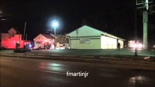 Fire engines respond to garage fire in Stanton