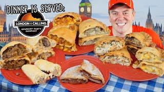 British Pasty Challenge w/ Cornish, Tikka Masala, and Bangers & Mash!!