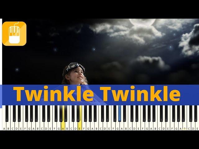 Twinkel Twinkel Kleine Ster piano tutorial -  Zeer eenvoudig