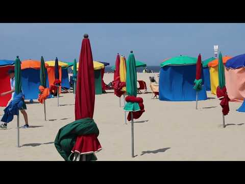 Deauville, a Parisian Riviera. The beach scene: the best way
