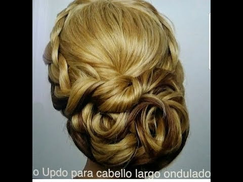 Peinado Updo Mono Cabello Largo Ondulado Youtube