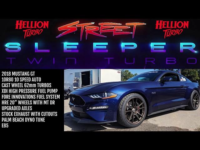 HELLION STREET SLEEPER MUSTANG GOES 9.84 ON 20'S!!!!!