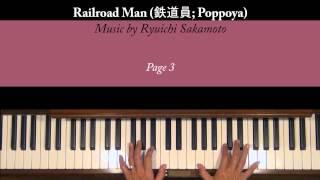 Railroad Man 鉄道員 Ryuichi Sakamoto Piano Tutorial SLOW