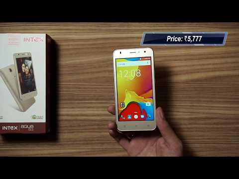 the best attitude 9e125 88fb6 Intex Aqua S3: Unboxing & First Look | Hands on | Price - YouTube