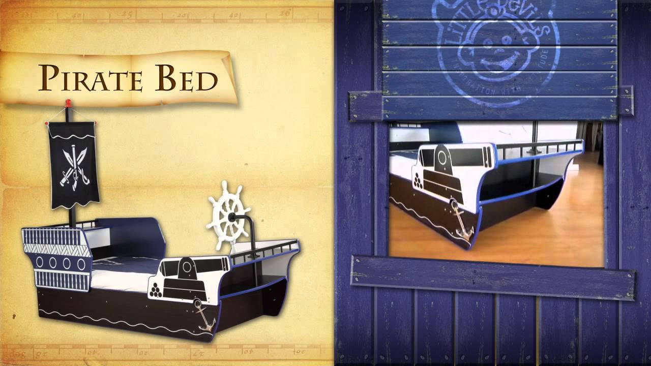 Perfect Pirate Boat Theme Bedroom Furniture Set For Kids Children   Bed From Little  Devils Direct   YouTube
