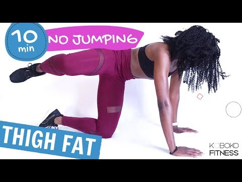 THIGH FAT WORKOUT - NO JUMPING | Home Workout -  Koboko Fitness