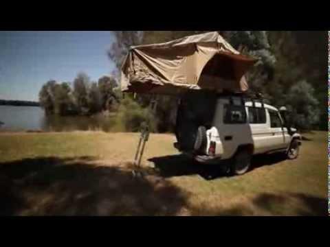 Kalahari Roof Top Tent made by Powerful 4x4 - YouTube