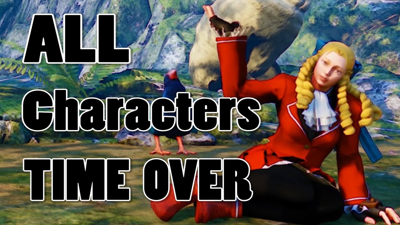 Street Fighter 5 All Characters Time Over 1080p Full Hd 60fps