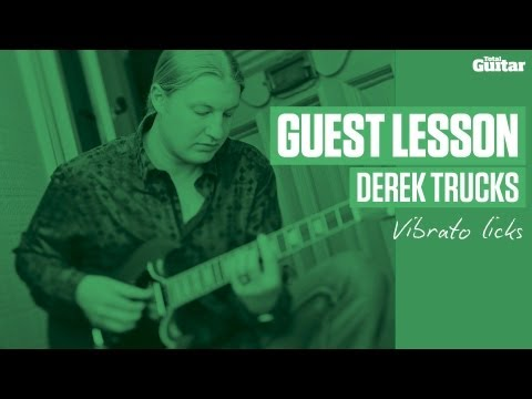 Derek Trucks Guest Lesson - Vibrato licks (TG240)