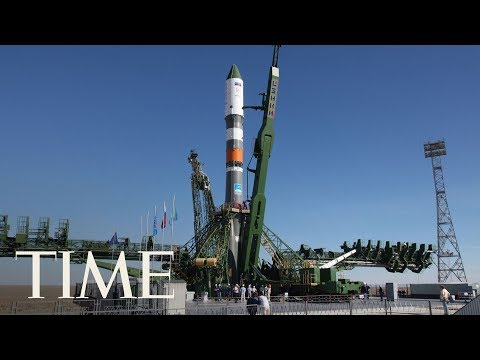 Watch The International Space Station Launch Soyuz Spacecraft From Cosmodrome In Kazakhstan | TIME