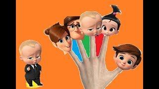 LEARN COLORS BOSS BABY FINGER FAMILY NURSERY RHYME | Kids Songs | Fun Learning Video