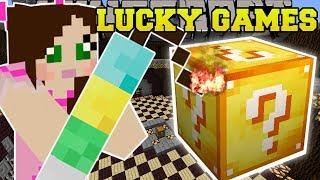 Minecraft: DYNAMITE EXPLOSIVE CHALLENGE GAMES - Lucky Block Mod - Modded Mini-Game