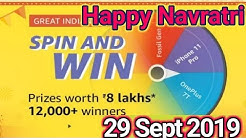 Amazon Spin and Win | Win Prizes Worth Rs. 8 Lakhs  12,000+ Winners | 29 Sept - 4 Oct 2019