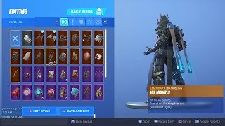 """THE ICE KING"" TIER 100 BACKBLING ""ICE MANTLE"" UNLOCKED! Fortnite Season 7 Battle Pass Skin Upgrade"