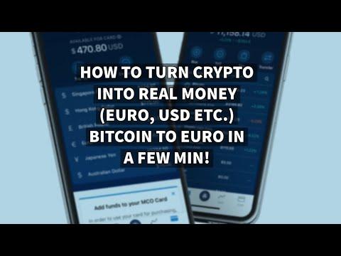CRYPTO.COM - TURN CRYPTO INTO REAL MONEY (EURO, USD Etc.) IN A FEW MIN! BITCOIN TO EURO OR USD!