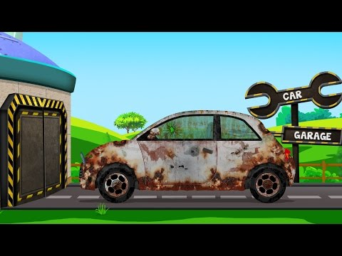 Compact Car | Rusty Garage | Car Garage | Trucks And Cars Vi