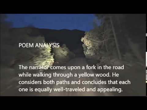 "an analysis of the choice of a road in the poem road not taken by robert frost 'the road not taken that poem is ""the road not taken,"" by robert frost not taken,"" his new book-length analysis, the poem is neither an."