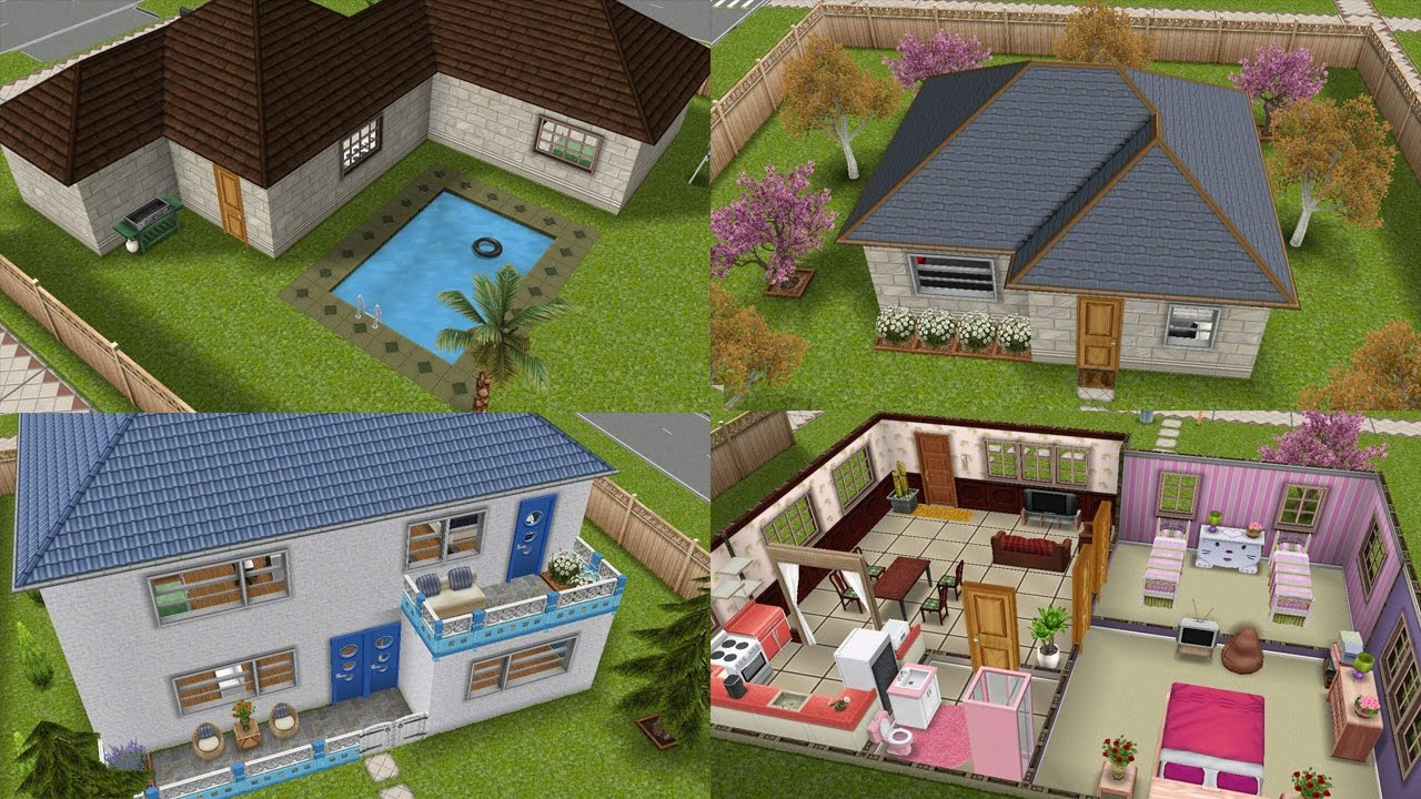 ideas para casas bonitas y econ micas sims freeplay On casa de diseno the sims freeplay
