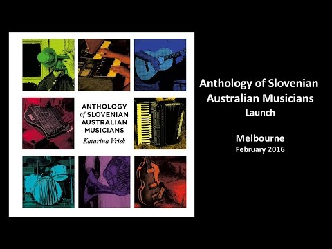 Anthology of Slovenian Australian Musicians Launch, Melbourne